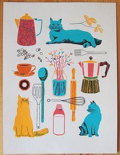 Cats and kitchen stuff