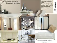 Contemporary harmony in calming neutrals. Mood board created using www.sampleboard.com #neutral #interior #moodboard