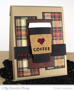 Coffee Cup Die-namics, Horizontal Stitched Strips Die-namics - Cindy Lawrence #mftstamps