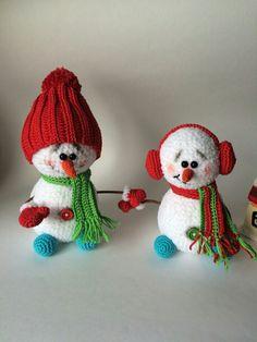 :) ❄⛄ Cute amigurumi snowmen. (Inspiration).