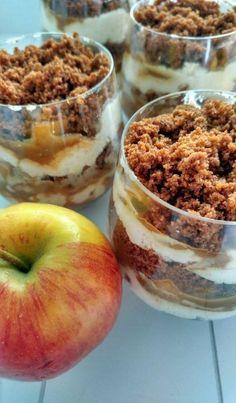 Herfst trifle met appel en bastogne. Super makkelijk te maken en het smaakt helemaal naar de herfst! - Tante Pollewop