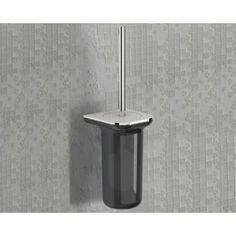 Nameeks 1433-03 Gedy Wall Mounted Toilet Brush Holder, Grey metal