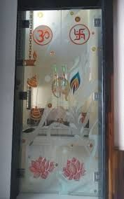 Temple Room Glass Door Pooja Room Indian Pooja Room