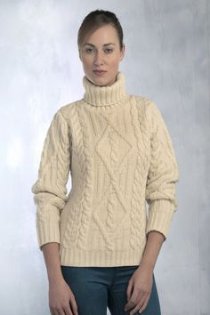 If you are going to invest in one sweater for the winter you should consider the Traditional Turtle Neck Sweater from Aran Sweaters Direct. The super soft Merino Wool eliminates the typical scratchy f