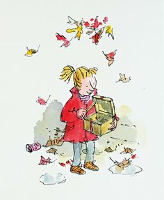 Quentin Blake children's illustrator his work is so simple but yet so detailed because he has great proportion on form and colours