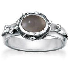 Ring met grijze agaat van Rabinovich