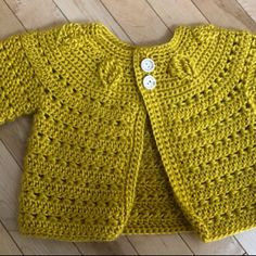 Crochet PATTERN - Falling Leaves Cardigan (sizes baby up to 8 years) (English only) Crochet Baby Sweaters, Crochet Baby Cardigan, Baby Girl Crochet, Crochet Baby Clothes, Crochet For Kids, Baby Knitting, Cardigan Bebe, Cardigan Pattern, Baby Patterns