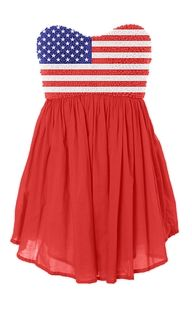 I would so wear this on fourth of July, lol.