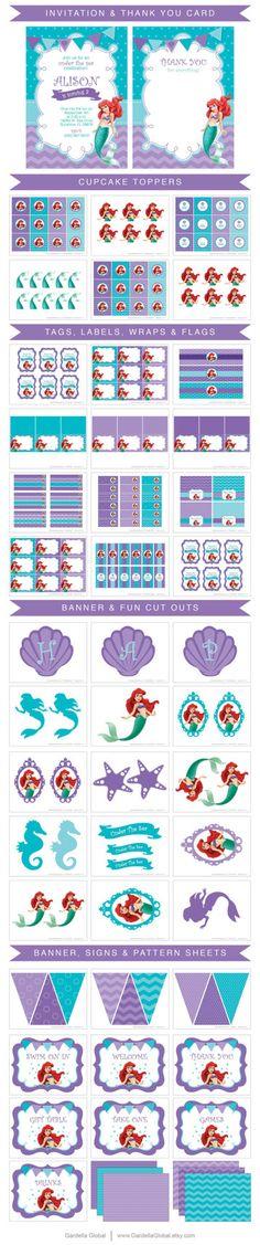 Little Mermaid Invitation, Little Mermaid invite, Ariel invitation, Ariel…