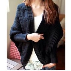 Black lose batwing cardigan New. Xs/s/m Sweaters Cardigans