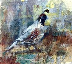 Gambels Quail, painting by artist Julie Ford Oliver