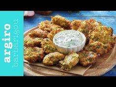 Εύκολοι Κολοκυθοκεφτέδες • Argiro Barbarigou - YouTube Fritters, Muffin, Meat, Chicken, Vegetables, Cooking, Breakfast, How To Make, Recipes
