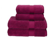 3. THROW IN THE TOWEL Make your morning ritual a stylish affair and add a splash of colour into your wash zone. Available in 26 gorgeous colours, we're coveting this raspberry set for the season. Woven from 100% cotton, each towel is priced from £3.50 - £30. 0845 758 5252, christy-home.com