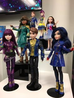 Descendants 2 dolls as you can see they are clear and they are on sale