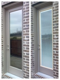 This Customer Had An 8u00270u201d Patio Door And Selected An ODL Enclosed Blind Door  Glass Insert ...