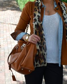 Leopard, Layers and Line + Floyd Jewelry- Sensibly Sharp