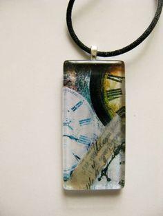 OOAK Glass Collage Pendant. $20.00, via Etsy.