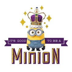 All Hail King Bob. Looks like Bob ended up with the Queen of England's crown from the Minion Movie. Looks like it is good go be a Minion.