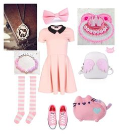 """Princess's Day Out"" by nyctophilic-waffles on Polyvore featuring Converse"