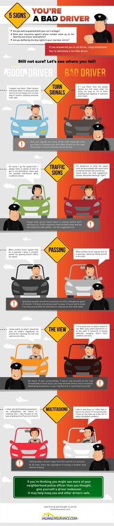 Simplified look at good vs. bad drivers #infographic