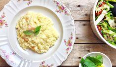 Citroenrisotto met garnalen en basilicum + lekkere salade