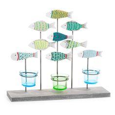 Portacandele con pesci H 30 cm AQUA JUNGLE - Maison du monde