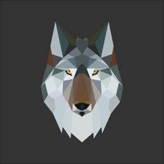 Low Poly Wolf Illustration