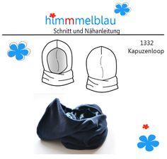 Kapuzenschals - 1332 ebook Kapuzenloop Einheitsgroeße für Große - ein Designerstück von Madelaine_Hartwig bei DaWanda