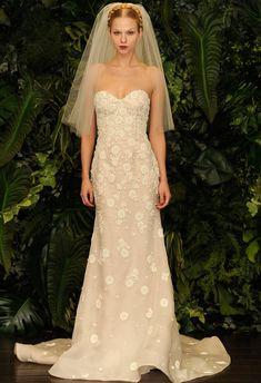 Bellísimos y elegantes los vestidos de novia de la firma Naeem Khan.