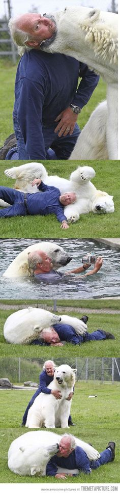 A man and his unusual best friend…