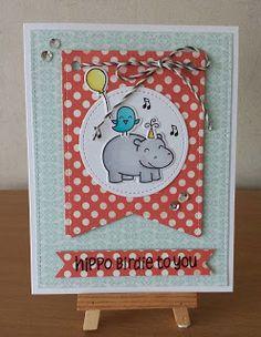Creatief Hoekje van Marijke: Hippo Birdie to You