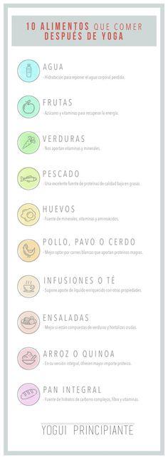 10 Alimentos que comer después yoga | YoguiPrincipiante.com