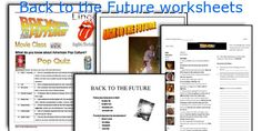 Back to the Future worksheets