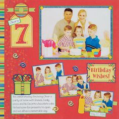 Birthday Scrapbook Page Layouts