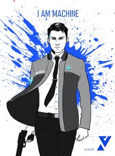 Detroit become human Connor By: SyrnIK