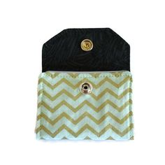 CREDIT CARD HOLDER 34+ Cards, Gold Chevron Snap Wallet, Purse Organizer, Business Card Holder, Gift Card Holder, Credit Card Organizer