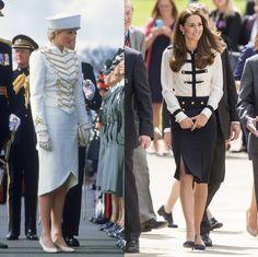 キャサリン妃&ダイアナ妃のそっくりコーデ集