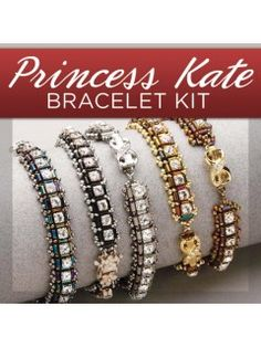 I have made the silver one and it looks like fine jewelry. Learn how to bead your own Princess Kate bracelet! | InterweaveStore.com
