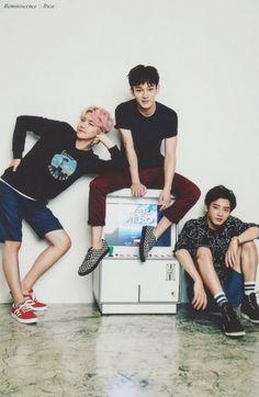 BAEKHYUN, CHEN & CHANYEOL // 2016 EXO CALENDAR