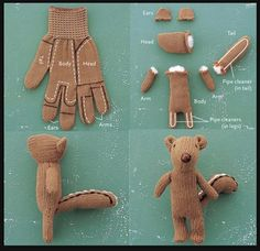 sewing ideas - lonely glove squirrel