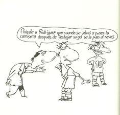"""Ponerse una prenda """"al derecho"""" o """"al revés"""". Autor: Roberto Fontanarrosa. Libro: Fontanarrosa y el fútbol"""
