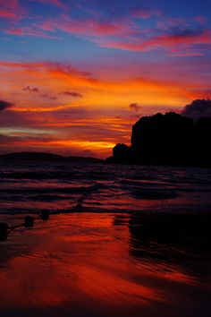 Sunset in Railay Beach, Railay West, Thailand