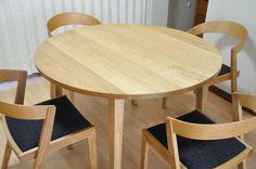 ナラ材丸テーブル