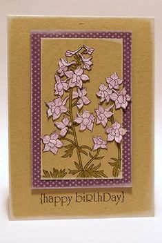 Year of Flowers: Larkspurs Stamp Set: Papertreyink