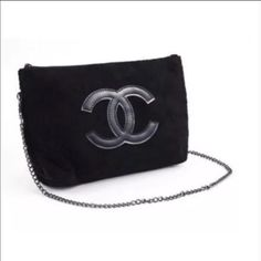 ❤️Chanel Precision Cross Body Clutch Purse❤️ ❤️ADORABLE CHANEL PRECISION CROSS BODY CLUTCH PURSE NEW WITH TAG & ORIGINAL PACKAGE❤️VIP gift from Chanel Makeup. Material is soft black velour. 🚫NO TRADE🚫NO HOLD 🚫NO LOW BALLS, PLEASE🔴 Keep in mind that Poshmark took 20% of our seller🔴 CHANEL Bags Crossbody Bags