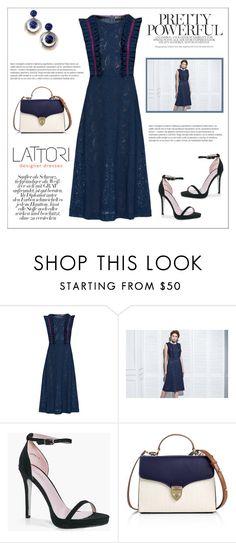 """LATTORI dress"" by water-polo ❤ liked on Polyvore featuring Lattori, Boohoo, Aspinal of London, polyvoreeditorial and lattori"