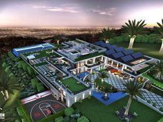 Dream House Interior, Luxury Homes Dream Houses, Luxury House Plans, Dream Home Design, Dream House Plans, Modern Exterior House Designs, Modern Architecture House, Dream Mansion, Modern Mansion