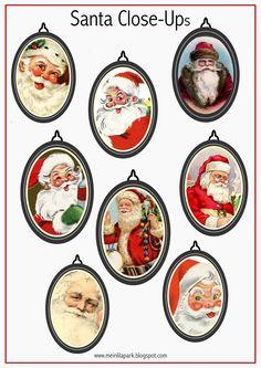 Free printable vintage Santa gift tags - Druckvorlage Weihnachtsmann - freebie | MeinLilaPark – DIY printables and downloads