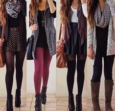 Four pretty& cosy outfits
