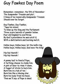 Guy fawkes night and modernist poem